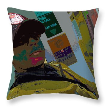 the artist - MARINE CORPORAL kenneth james Throw Pillow