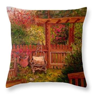 The Artist's Garden Throw Pillow