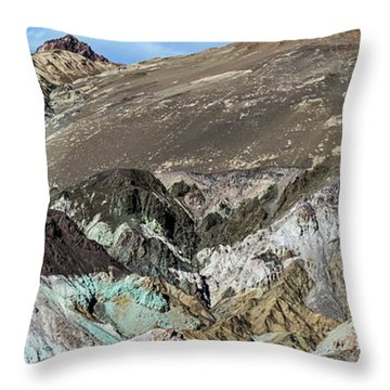 The Artists Palette Death Valley National Park Throw Pillow
