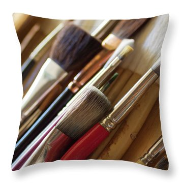 Throw Pillow featuring the photograph The Artist's Studio by Ana V Ramirez