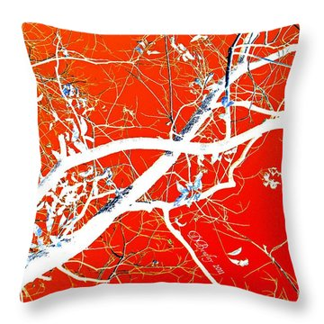 The Asian Tree Throw Pillow