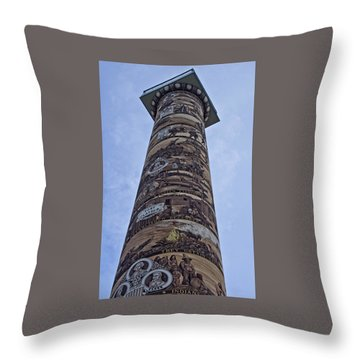 Throw Pillow featuring the photograph The Astoria Column by Thom Zehrfeld