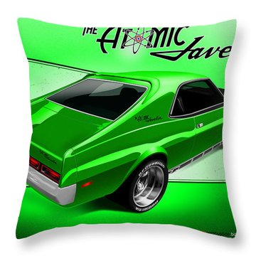 The Atomic Javelin Rear Throw Pillow