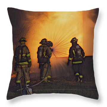 The Attack Throw Pillow by Jim Lepard
