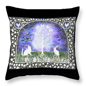 The Attraction Throw Pillow by Lise Winne