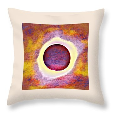 The Aura Of The Eclipse Throw Pillow