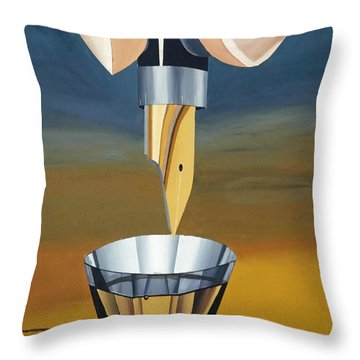 The Author Throw Pillow