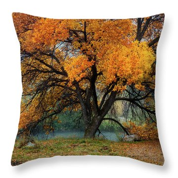 The Autumn Tree Throw Pillow