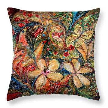 The Autumn Wind Throw Pillow by Elena Kotliarker