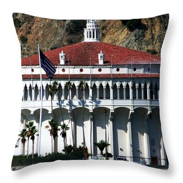 The Avalon Casino Throw Pillow