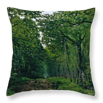 The Avenue Of Chestnut Trees Throw Pillow by Alfred Sisley
