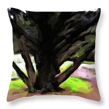 The Avenue Of Trees 1 Throw Pillow