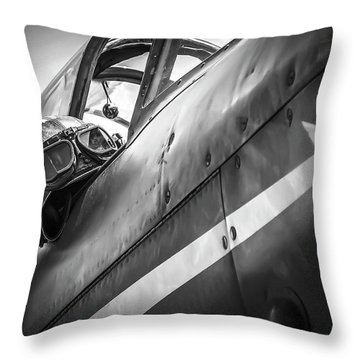 The Aviator - Bw Series Throw Pillow