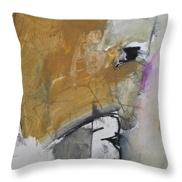 Throw Pillow featuring the painting The B Story by Cliff Spohn