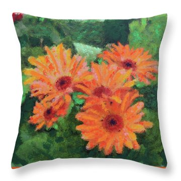 The Babies Gerber Throw Pillow