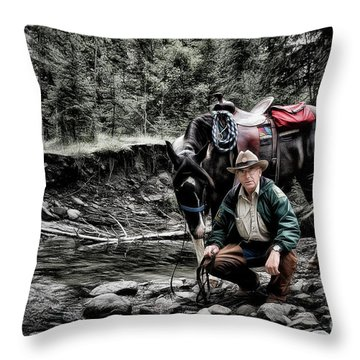 The Back Country Guardian Throw Pillow