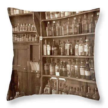 The Back Room In Sepia Throw Pillow