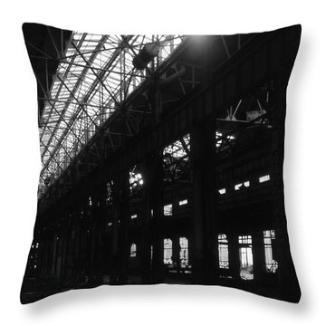 The Back Shop Throw Pillow by Richard Rizzo