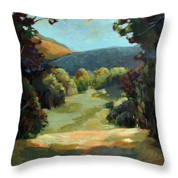 The Backroads - Original Oil On Canvas Summer Landscape  Throw Pillow