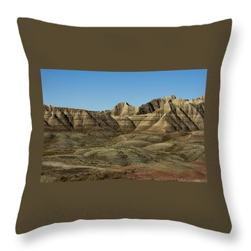 The Bad Lands Throw Pillow