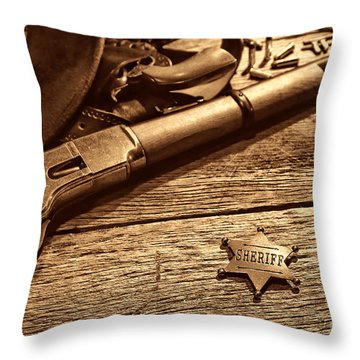 The Badge Throw Pillow