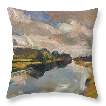 The Bakkerskil In The Land Of Altena Throw Pillow