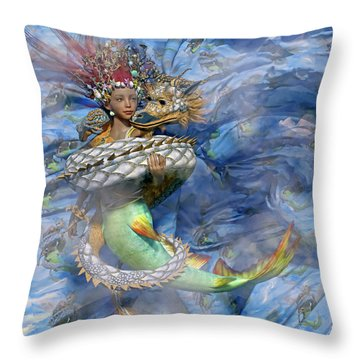 The Balance Of Peace And War Throw Pillow by Betsy Knapp