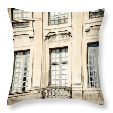 Throw Pillow featuring the photograph The Balcony by Jason Smith