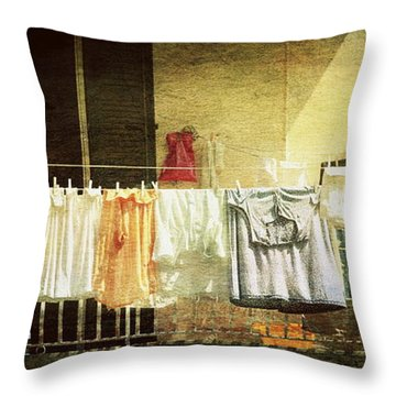 The Balcony Throw Pillow
