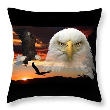 The Bald Eagle Throw Pillow