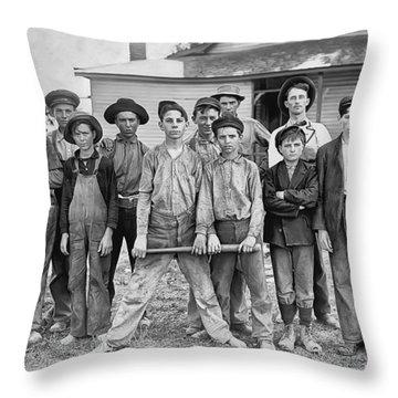The Ball Team Throw Pillow