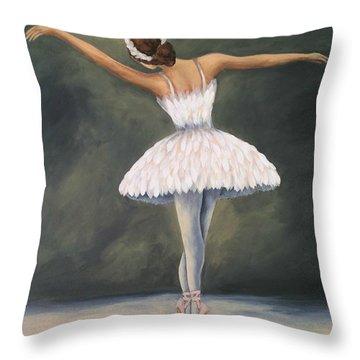 The Ballerina V Throw Pillow