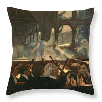 The Ballet Scene From Meyerbeer's Opera Robert Le Diable Throw Pillow by Edgar Degas