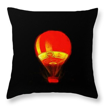 The Balloon At Night - Da Throw Pillow