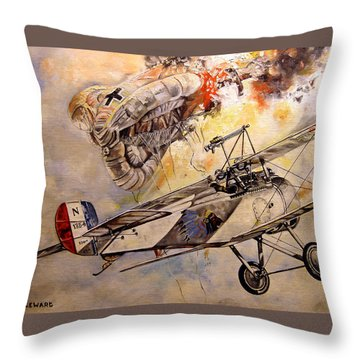 The Balloon Buster Throw Pillow by Marc Stewart