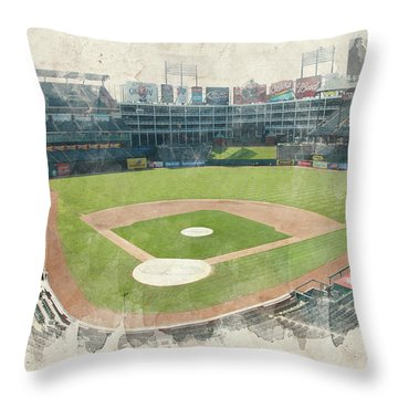The Ballpark Throw Pillow