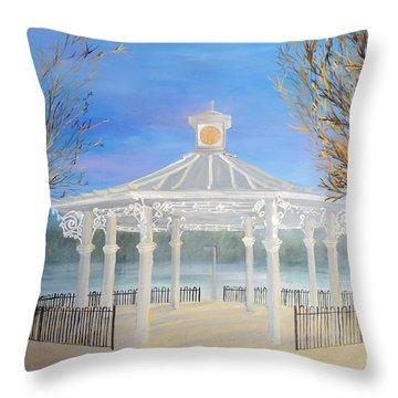 The Bandstand Basingstoke War Memorial Park Throw Pillow