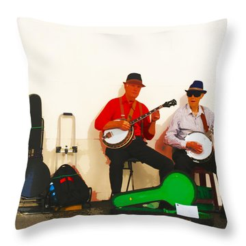 The Banjo Dudes Throw Pillow