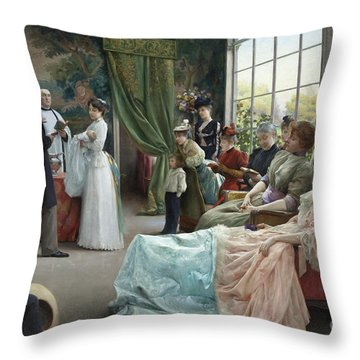 The Baptism, 1892 Throw Pillow