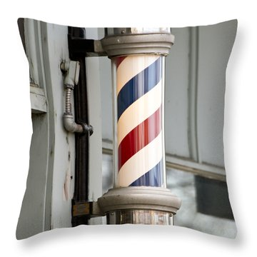 The Barber Shop 4 Throw Pillow by Angelina Vick