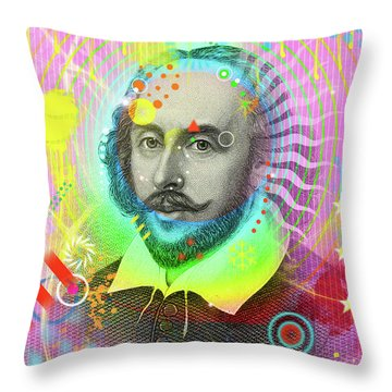 The Bard Throw Pillow by Gary Grayson