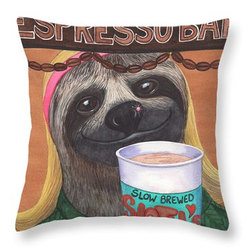 The Barista Throw Pillow