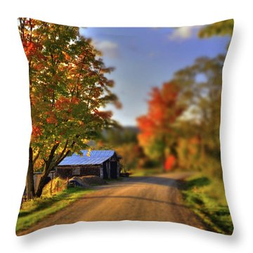 The Barn At The Bend Throw Pillow