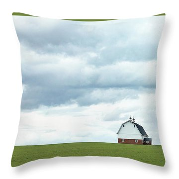Throw Pillow featuring the photograph The Barn by Rebecca Cozart