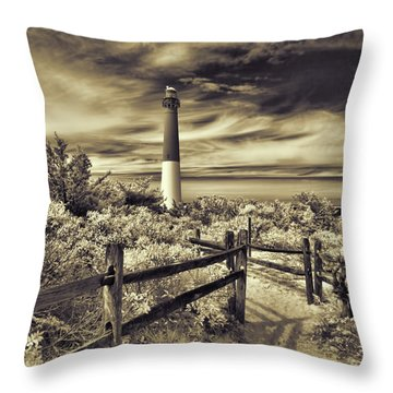 The Barnegat Lighthouse New Jersey Throw Pillow