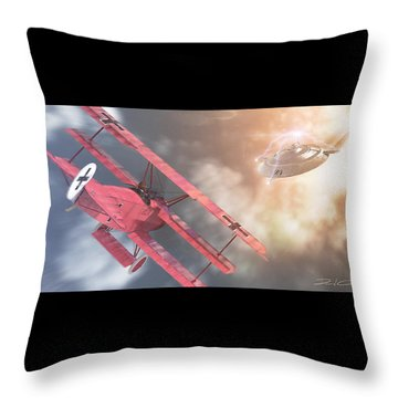 The Baron's Most Unusual Encounter Throw Pillow by David Collins