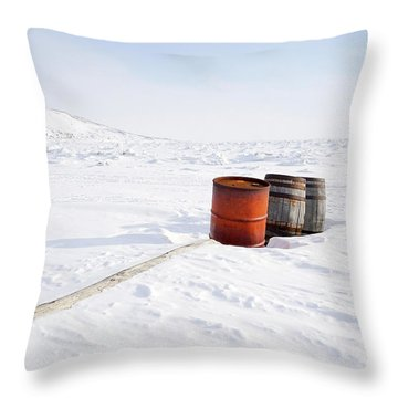 The Barrels Throw Pillow