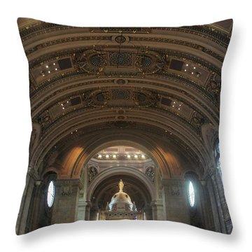 The Basilica Of Saint Mary Interior Throw Pillow