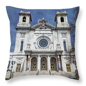 The Basilica Of Saint Mary Minneapolis Springtime 2 Throw Pillow