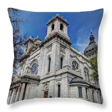 The Basilica Of Saint Mary Minneapolis Springtime Throw Pillow